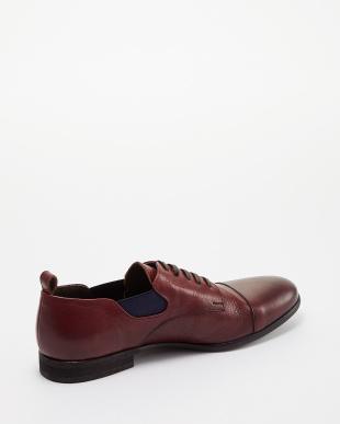 ワイン  サイドゴア短靴見る