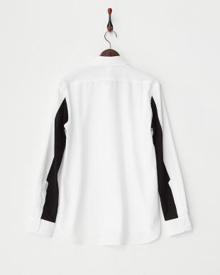 ホワイト ジャージ切り替えシャツ見る