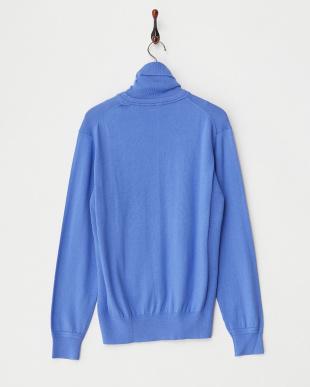 ブルー  12Gタートルネックセーター見る