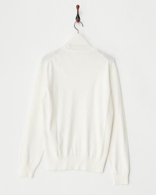ホワイト  12Gタートルネックセーター見る