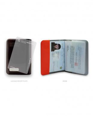 レッド H.Fパスポートカバー プラス見る