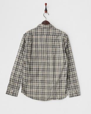 ブラウン  ユーズド加工 ネルチェックシャツ見る