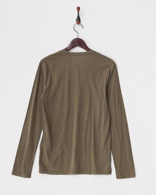 モカーキ C/Rベーシック ポケット付き長袖Tシャツ見る
