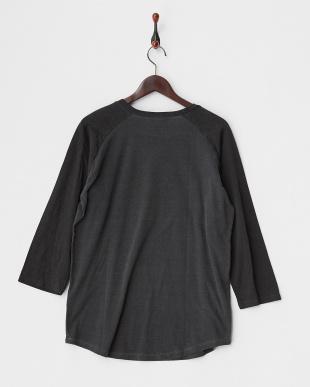 柄B  ユーズドライクブラックラグラン 3/4Tシャツ見る