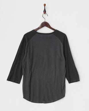 柄C  ユーズドライクブラックラグラン 3/4Tシャツ見る