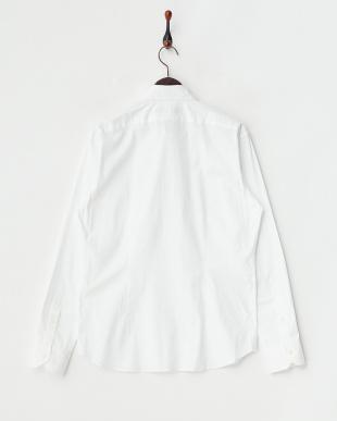 ホワイト ストレッチシャツ見る
