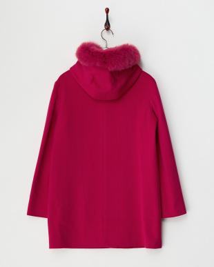 ピンク レッキスファートリミングコート見る