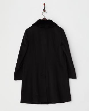 ブラック レッキスファー衿 ステンカラーコート見る