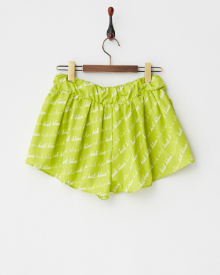 ライトグリーン ロゴ総柄ショートパンツ|WOMEN見る