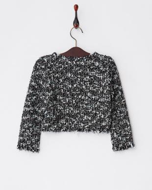 ブラック×ミント ミックスツイードジャケット|GIRLS見る