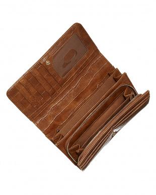 ブラウン フラップ式長財布見る