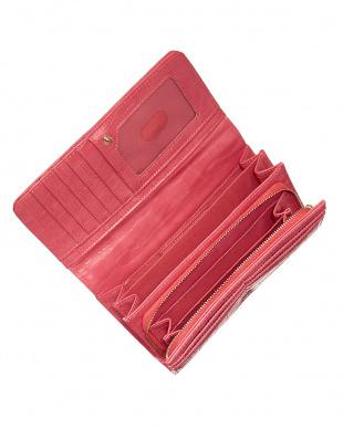 ピンク フラップ式長財布見る