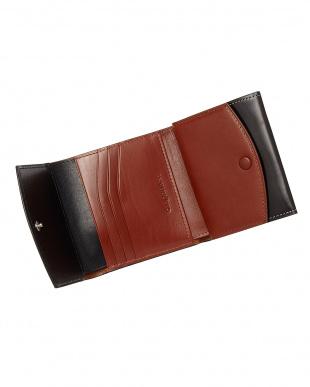 ブラック  SOLTILE牛革 三つ折り財布見る
