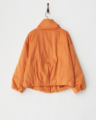 オレンジ(B)  カシミヤメルトン比翼ダウンジャケット見る