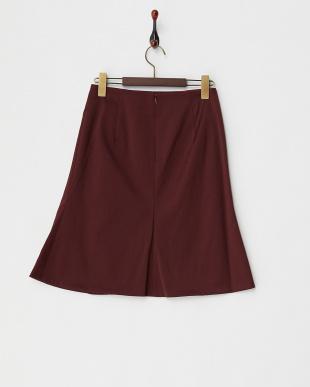 ワイン  ダブルサテンAラインスカート見る