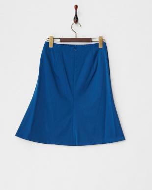 ブルー  ダブルサテンAラインスカート見る