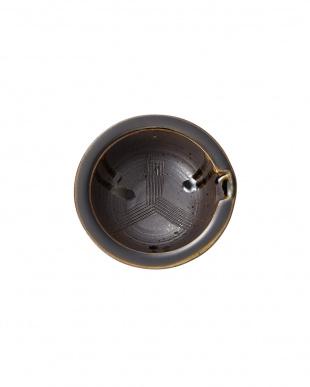 黒陶釉流し組片口小鉢見る