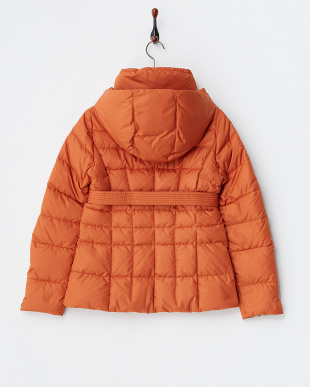 オレンジ  カフス折り返しダウン入りジャケット見る