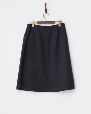 ネイビー ダブルモッサプリーツ入りスカート見る