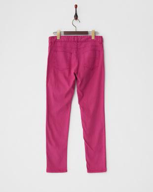 ピンクパープル  5ポケットカラースキニーパンツ見る