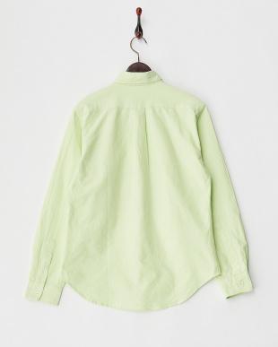 グリーン オックスボタンダウンシャツ見る