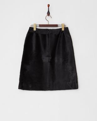 ブラック(B)  ハラコタイトスカート見る