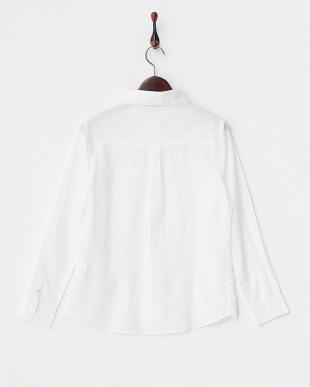 オフホワイト 綿ローンシャツ見る