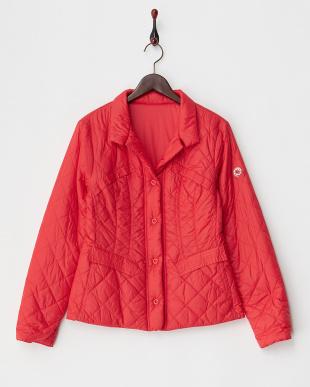 レッド リバーシブル中綿入りジャケット見る