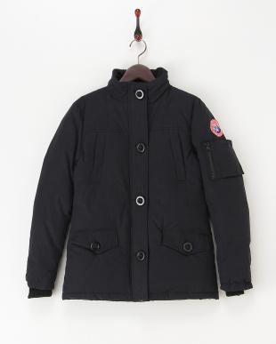 ネイビー  中綿入りジャケット見る