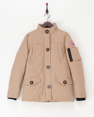 ブラウン  中綿入りジャケット見る