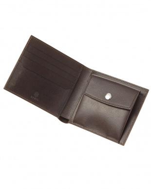 ダークブラウン  ASTI 二つ折り財布見る