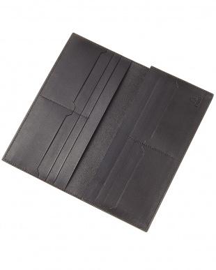 ブラック  SILVIO コードバン マチ付き長財布見る