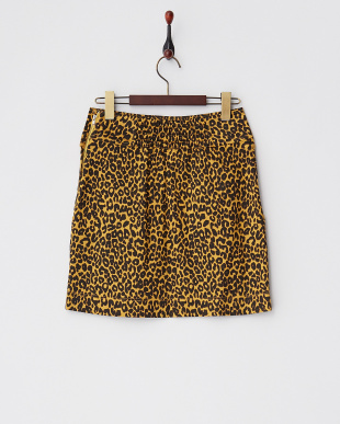 イエロー  レオパードサークルポケットタイトスカート見る