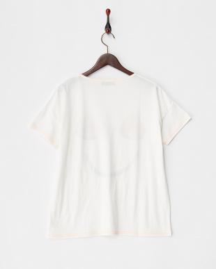ホワイト  スイカスマイルクルーネックTシャツ見る