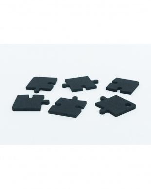 ブラック  MAKE PUZZLEコースター (6pieces)|feelt見る