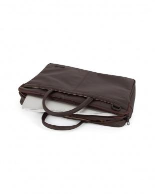 ダークブラウン  Slim Briefcase L ブリーフケース見る