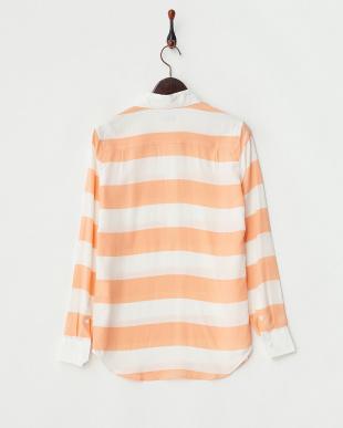 オレンジ シルクラガーシャツ見る