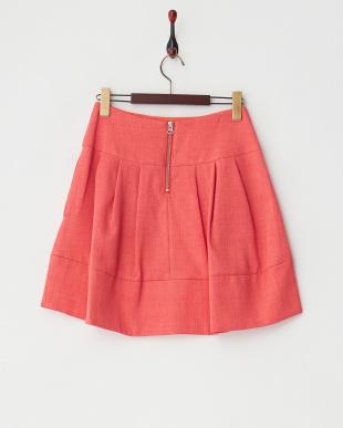 ピンク タック入り切り替えスカート見る