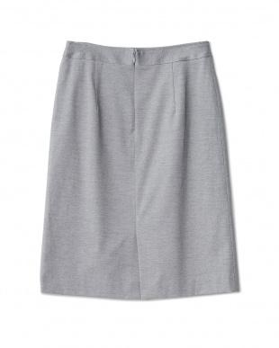 グレー ジャージータック入りタイトスカート見る