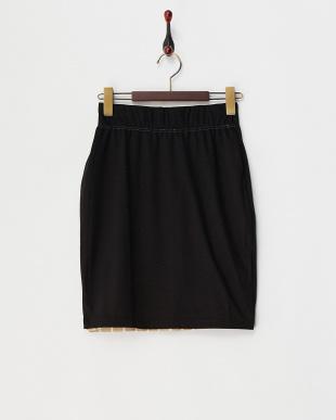 03 ベージュ リバーシブルストライプスカート見る