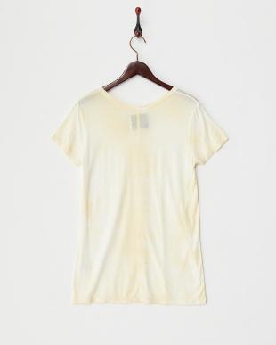 イエロー テンセルむら染めTシャツ見る