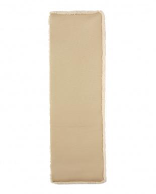 ベージュ 洗える羊毛マット 43×135見る