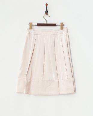 ピンク  ニクシィーサテンプリーツデザインスカート見る