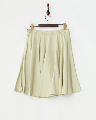グリーン  シルクシャンタンサーキュラースカート見る