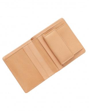 オレンジ イタリアンレザー コンパクト財布見る