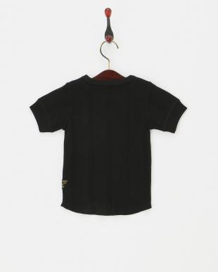 ブラック  針抜きTシャツ見る