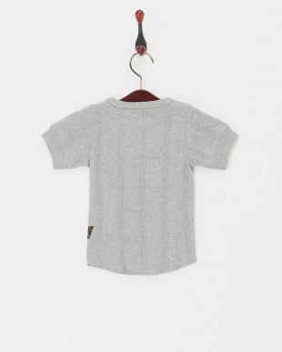 グレー  針抜きTシャツ見る