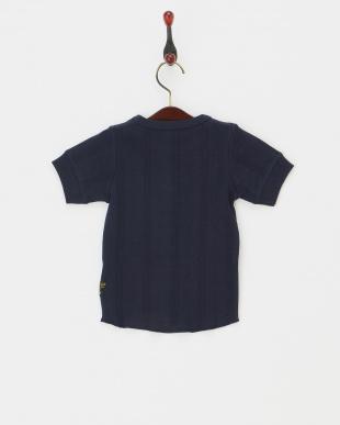 ネイビー  針抜きTシャツ見る