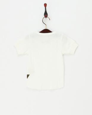 ホワイト  針抜きTシャツ見る