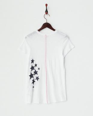 ホワイト スタープリント スーピマスラブボーイTシャツ見る
